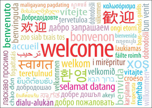 Image result for welcome sign in different languages for classroom